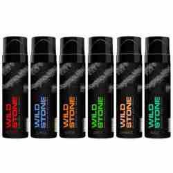Wild Stone Burst Charge Drift Surge Thrill And Wave Pack Of 6 No Gas Perfumed Deodorant Spray
