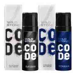 Wild Stone Code Platinum And Titanium Pack Of 2 No Gas Deodorants