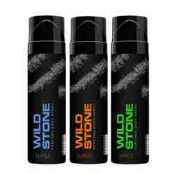 Wild Stone Surge Thrill And Drift Pack Of 3 No Gas Perfumed Deodorant Spray