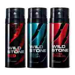 Wild Stone Aqua Fresh, Ultra Sensual, Red Pack of 3 Deodorants