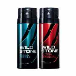 Wild Stone Aqua Fresh, Ultra Sensual Pack of 2 Deodorants