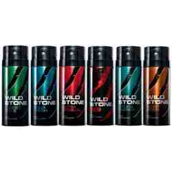 Wild Stone Forest Spice, Aqua Fresh, Ultra Sensual, Red, Hydra Energy, Night Rider Pack of 6 Deodorants