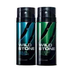 Wild Stone Forest Spice, Aqua Fresh Pack of 2 Deodorants