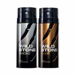 Wild Stone Hunt, Smoke Pack of 2 Deodorants