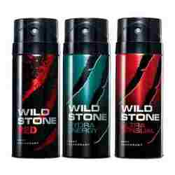 Wild Stone Ultra Sensual, Red, Hydra Energy Pack of 3 Deodorants