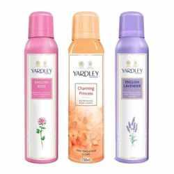 Yardley London English Rose, Charming Princess, English Lavender Pack of 3 Deodorants