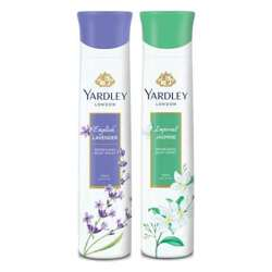 Yardley London Jasmine, English Lavender Pack of 2 Deodorants