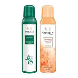 Yardley London Jasmine, Charming Princess Pack of 2 Deodorants