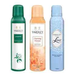 Yardley London Jasmine, Charming Princess, Lace Pack of 3 Deodorants