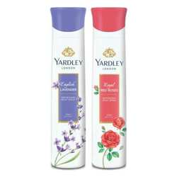 Yardley London Red Roses, English Lavender Pack of 2 Deodorants