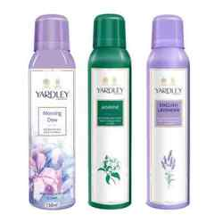 Yardley London Morning Dew, Jasmine, English Lavender Pack of 3 Deodorants