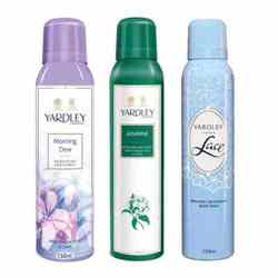 Yardley London Morning Dew, Jasmine, Lace Pack of 3 Deodorants