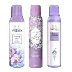 Yardley London Morning Dew, Lace Satin, English Lavender Pack of 3 Deodorants