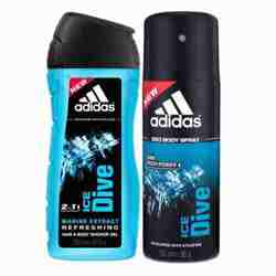 Adidas Ice Dive Combo Of Shower Gel And Deodorant