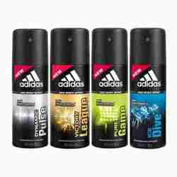 Adidas Pack Of 4 Deodorants - Ice Dive Dynamic Pulse Victory League Pure Game