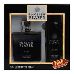 English Blazer Black Perfume And Deodorant Giftset