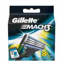 Gillette Mach 3 Pack Of 8 Cartridges