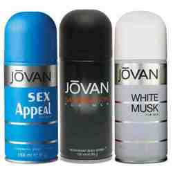 Jovan White Musk, Satisfaction, Black Musk Pack of 3 Deodorants