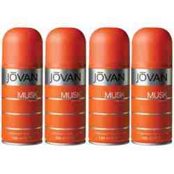 Jovan Musk Pack Of 4 Deodorant