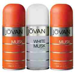 Jovan 2 Musk And White Musk Pack of 3 Deodorants