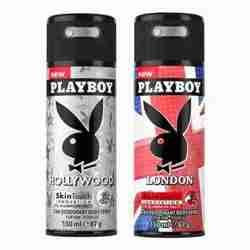 Playboy Hollywood, London Pack of 2 Deodorants for men