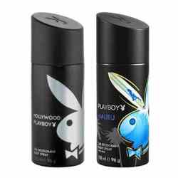 Playboy Hollywood, Malibu Pack of 2 Deodorants for men