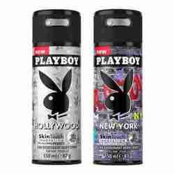 Playboy Hollywood, New York Pack of 2 Deodorants for men