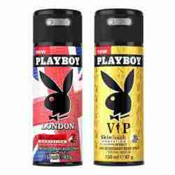 Playboy London, VIP Pack of 2 Deodorants for men