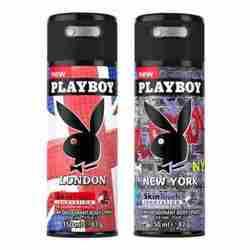 Playboy London, New York Pack of 2 Deodorants for men