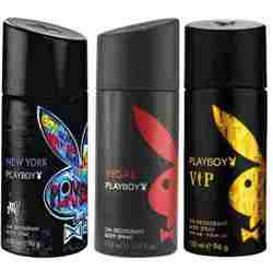 Playboy New York, Vegas, VIP Pack of 3 Deodorants for men