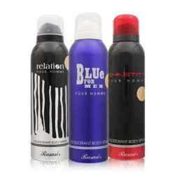 Rasasi Blue For Men, Chastity And Relation Pack Of 3 Deodorants