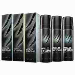 Wild Stone Steel, Iron And Stone Pack of 3 No Gas Deodorant